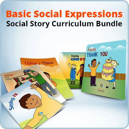 Basic Social Expressions Social Story Curriculum Bundle: image 1