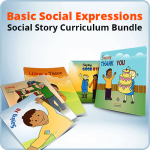 Basic Social Expressions Social Story Curriculum Bundle