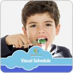 Brushing Teeth Boy Visual Schedule