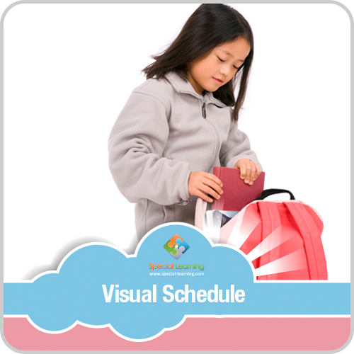 Getting Ready for School Girl Visual Schedule: image 1