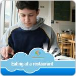 Eating at a Restaurant Boy Visual Schedule