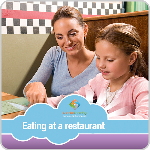 Eating at a Restaurant Girl Visual Schedule: image 1