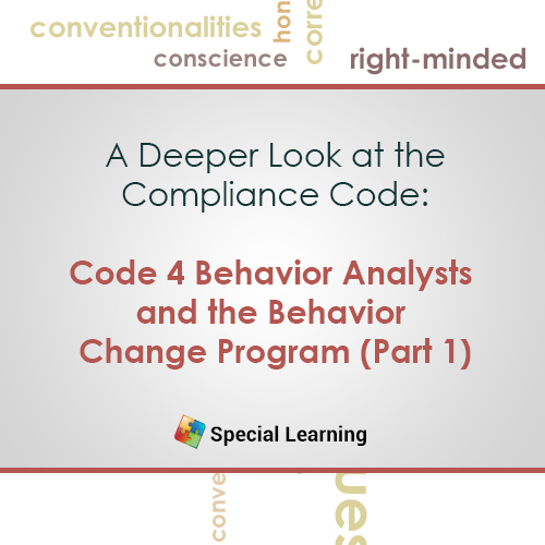Ethics: Code 4.0 Behavior Analysts and the Behavior Change Program (Part 1): image 1