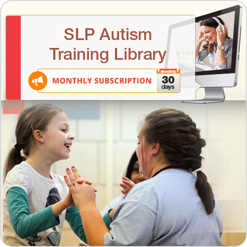 MONTHLY SUBSCRIPTION: SLP Autism Training Library: image 1