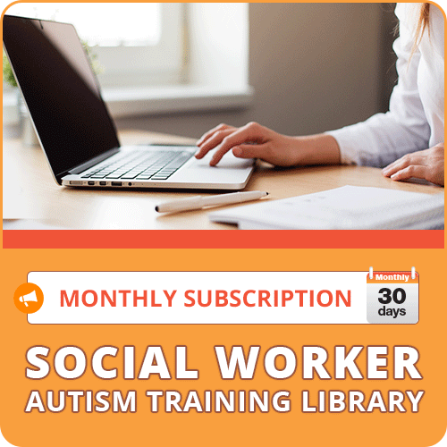 MONTHLY SUBSCRIPTION: Social Worker Autism Training Library: image 1