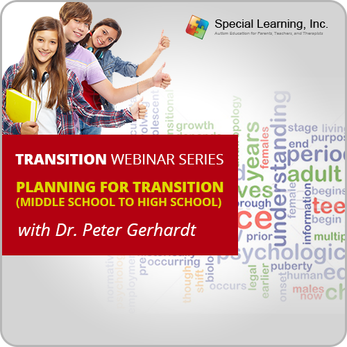 Planning for Transition: Middle School to High School with Dr. Peter Gerhardt, Ed.D: image 1