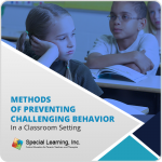 Methods of Preventing Challenging Behavior