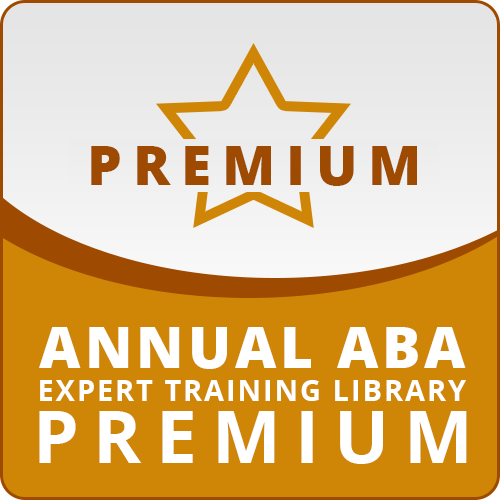 ANNUAL SUBSCRIPTION: ABA Expert Training Library PREMIUM: image 1