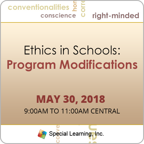 Ethics in Schools: Program Modifications with Dr. Jon Bailey, Ph.D, BCBA-D (May 2018): image 1