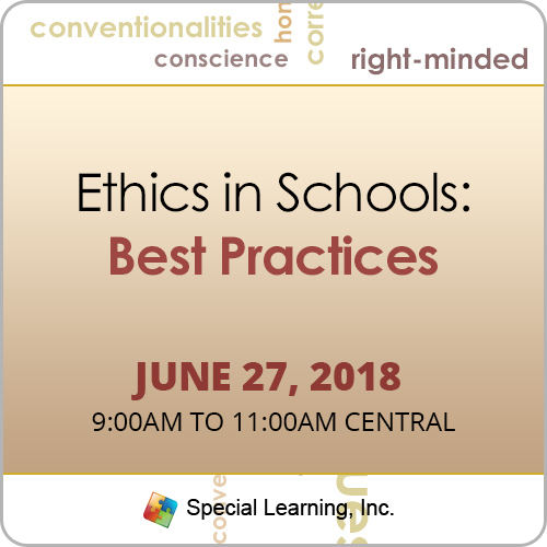 Ethics in Schools: Best Practices with Jon Bailey, PhD, BCBA-D (June 2018 Recorded): image 1