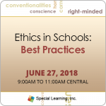 Ethics in Schools: Best Practices with Jon Bailey, PhD, BCBA-D (June 27, 2018)