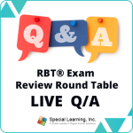 LIVE RBT® Exam Review Round Table: Ask the BC(a)BA® LIVE Q & A (December 4, 2018)