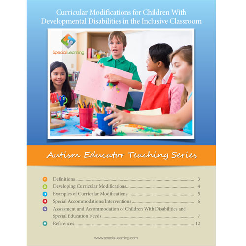 Curricular Modifications for Children With Developmental Disabilities in the Inclusive Classroom- Autism Educator Teaching Series: image 1