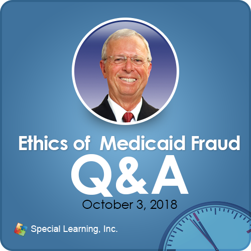 Ethics of Medicaid Fraud: Scenarios and Q&A with Dr. Jon Bailey, BCBA-D: image 1