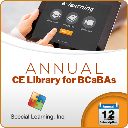 LEVEL 1 CE Library for BCaBAs (ANNUAL Subscription): image 1