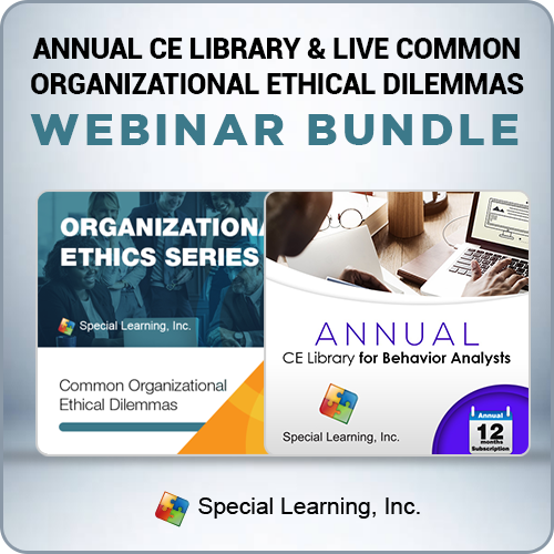 Annual CE Library and LIVE Common Organizational Ethical Dilemmas Webinar Bundle: image 1