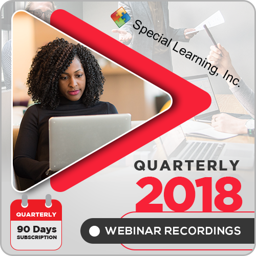 2018 LIVE Webinar Recordings Library (QUARTERLY Subscription): image 1