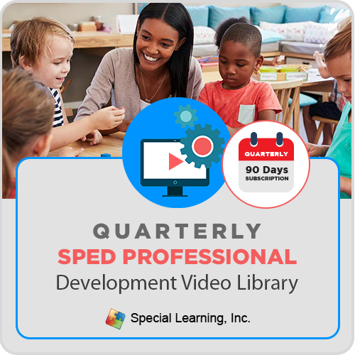 QUARTERLY Professional Development Video Library for Special Educators: image 1