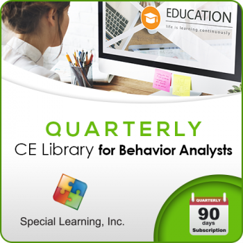 Professional CEUs: Level 1 CE Library for Behavior Analysts (QUARTERLY Subscription): image 1