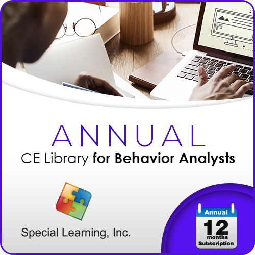 Professional CEUs: Level 1 CE Library for Behavior Analysts (ANNUAL Subscription): image 1