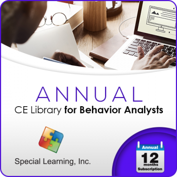 Professional CEUs: Level 1 CE Library for Behavior Analysts (ANNUAL Subscription)