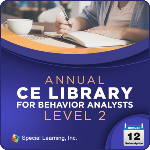 Professional CEUs: Level 2 CE Library for Behavior Analysts (ANNUAL Subscription): image 1