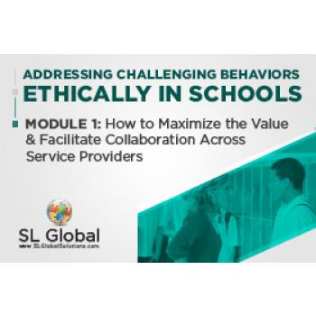 Addressing Challenging Behaviors Ethically in Schools Module 1: How to Maximize the Value and Facilitate Collaboration Across Service Providers (Recorded): image 2