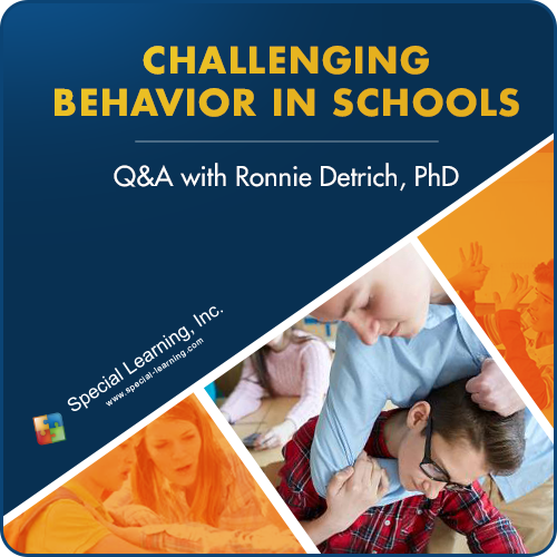 Addressing Challenging Behaviors in Schools: Q&A with Dr. Ronnie Detrich (RECORDED): image 1