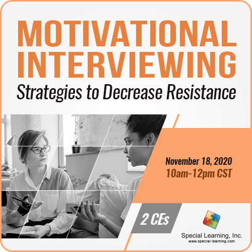 Motivational Interviewing: Strategies to Decrease Resistance and Increase Buy-in (Recorded): image 1