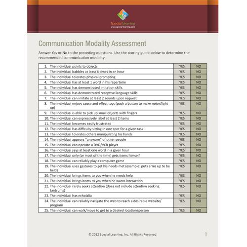 Communication Modality Assessment: image 1
